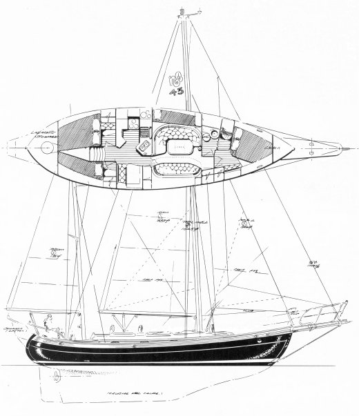 Hans Christian 43T Drawing